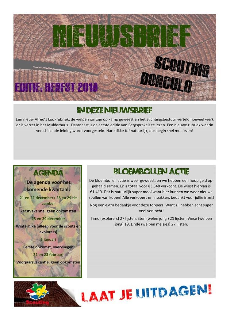 nieuwsbrief scouting herfst 2018